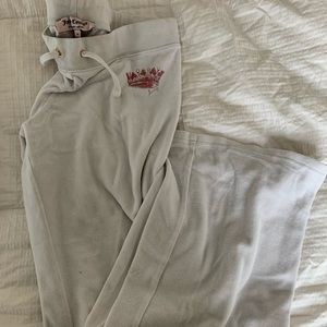 Juicy couture white velour pants